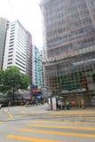 Street view in Wan Chai, Hong Kong Stock Photos