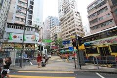 Street view in Wan Chai, Hong Kong Stock Images