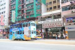 Street view in Wan Chai, Hong Kong Royalty Free Stock Image