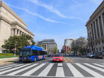 Street View Washington DC Royalty Free Stock Image