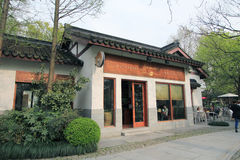Street view in West Lake Cultural Landscape of Hangzhou Royalty Free Stock Photo