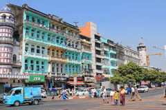 Street view in Yangon Stock Images