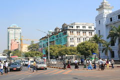 Street view in Yangon Royalty Free Stock Photos