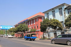 Street view in Yangon Royalty Free Stock Photo