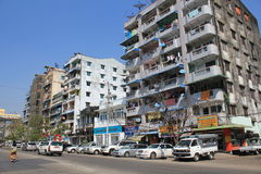 Street view in Yangon Royalty Free Stock Images