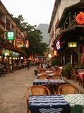 The street view in yangshuo, guilin, china Royalty Free Stock Photo