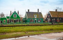 Street view of Zaanse Schans, Holland Stock Photo