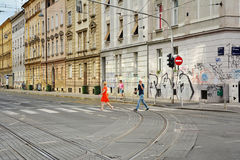 Street view in Zagreb Royalty Free Stock Photo