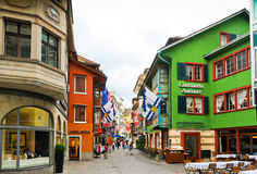 Street view in Zurich, Switzerland. Zurich is the largest city Stock Images