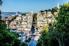Street views and scenes around san francisco california Stock Images