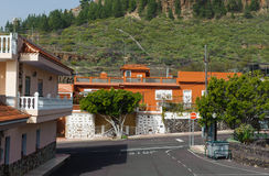 Street in village Alfarero del Arguayo, Tenerife, stock photography