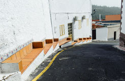 Street in village Alfarero del Arguayo, Tenerife, royalty free stock images