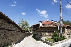 Street in the village of Arbanasi Veliko Tarnovo, Bulgaria. ARBANASI, BULGARIA - AUGUST 10, 2017:Street in the village of Arbanasi Veliko Tarnovo, Bulgaria Royalty Free Stock Photography