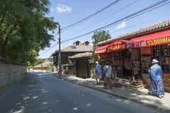 Street in the village of Arbanasi Veliko Tarnovo. Veliko Tarnovo, Bulgaria - August 10, 2017: Street in the village of Arbanasi Veliko Tarnovo Stock Photos