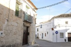 Street in the village of Belmonte Royalty Free Stock Photos