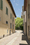 Street in village center, Volpedo, Italy Stock Photography
