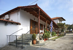 Street in the village Evzonoi. Greece.  Stock Photography