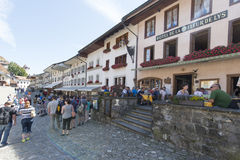 Street in the village of Gruyères, Switzerland Royalty Free Stock Photo
