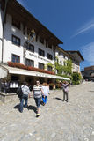Street in the village of Gruyères, Switzerland Royalty Free Stock Photography