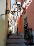 Street in village on Italian coast Royalty Free Stock Photos