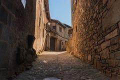 Street of the village of La Alberca, Salamanca Spain stock photos
