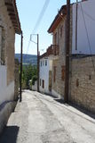 Street in the village of Omodos, on the island of  Stock Photos
