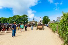 Street in The Village on Sark, Channel Islands, UK Royalty Free Stock Image