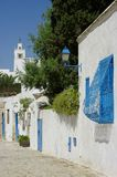 Street in a village in Tunisia. Photo taken in Tunisia, north africa royalty free stock photos