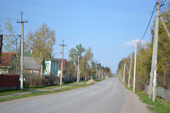 Street in the village Stock Image