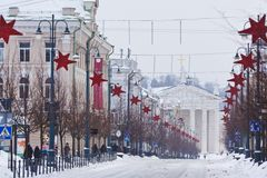 Street of Vilnius, Christmas Royalty Free Stock Images