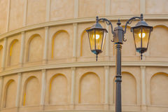Street Vintage Lamp Classic With Ancient Building Background Stock Images