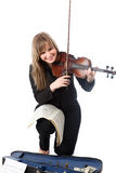 Street violinist Royalty Free Stock Photography