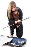 Street violinist Stock Photos