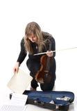 Street violinist Stock Photography