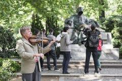 Street violinist Stock Image