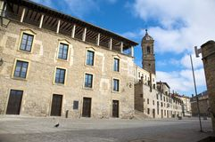 Street in vitoria city. Ancient city of vitoria city in vasque country spain Stock Photo