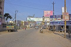 Street in Vrindavan Stock Photography