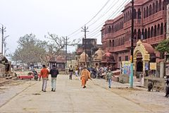 Street in Vrindavan Royalty Free Stock Image