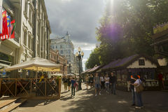 Street. Walk on Arbat street in Moscow, summer day Stock Photography