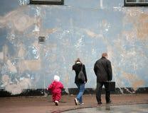 Street walker Stock Images