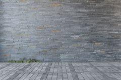 Street wall background ,Industrial background,. Empty grunge urban street with warehouse brick wall royalty free stock photo