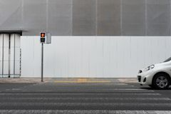 Street wall background ,Industrial background,. Empty grunge urban street with warehouse brick wall stock photos