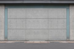 Street wall background ,Industrial background,. Empty grunge urban street with warehouse brick wall stock images