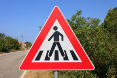 Street warning sign Stock Photography