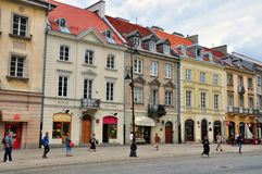 Street in Warsaw, Poland Stock Photo
