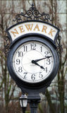 Street clock in Newark, NJ. Street clock in Newark downtown, Essex county, New Jersey, USA Royalty Free Stock Photos