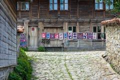 Street weavers in the Bulgarian village of Zheravna Stock Photos