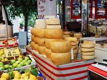 Street weekend market in town Salo, Italy Stock Photos