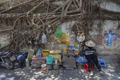 Street wendor in Ho Chi Minh city Royalty Free Stock Photography