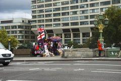 Street at Westminster Bridge. London, England. stock photo